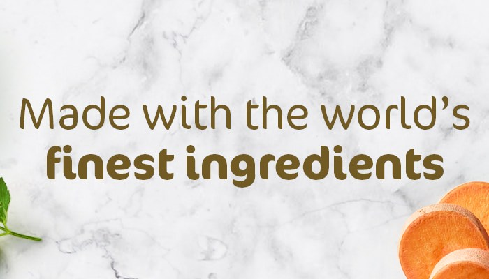 Made with the world's finest ingredients