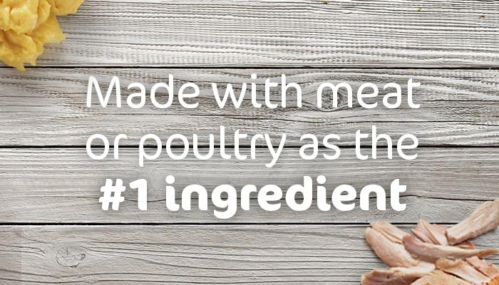 made with meat as the #1 ingredient