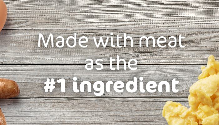 made with meat as the number 1 ingredient