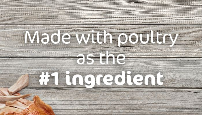 made with protein as the number 1 ingredient