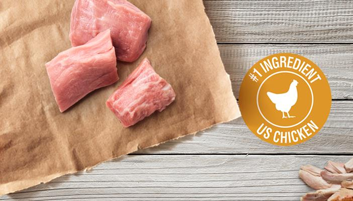 Veal pieces and #1 ingredient us chicken