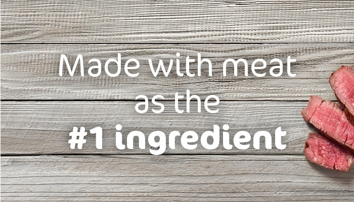 Made with meat as the #1 ingredients