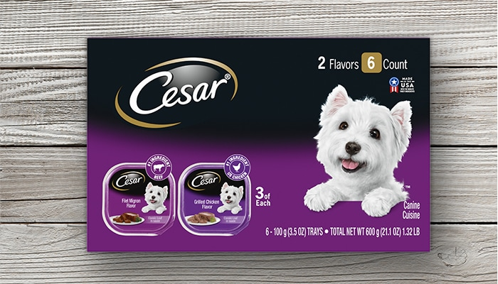 CESAR chicken and filet mignon multipack