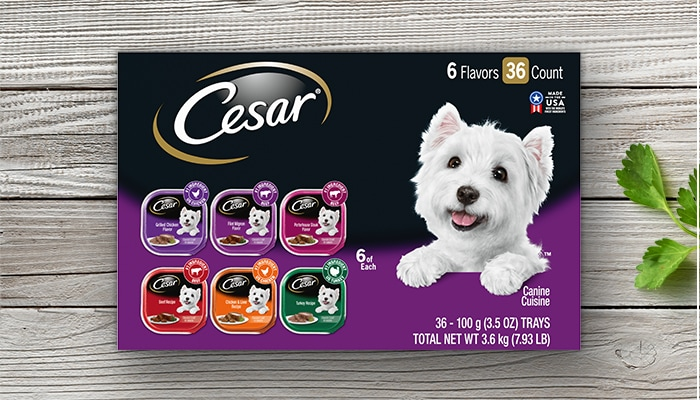 CESAR poultry steak and beef multipack
