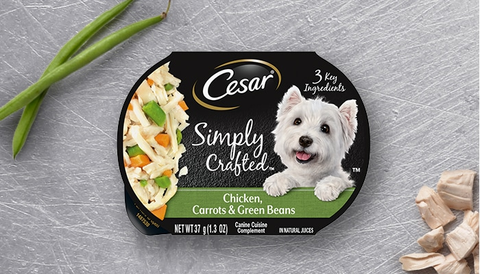 CESAR simply crafted chicken dog food