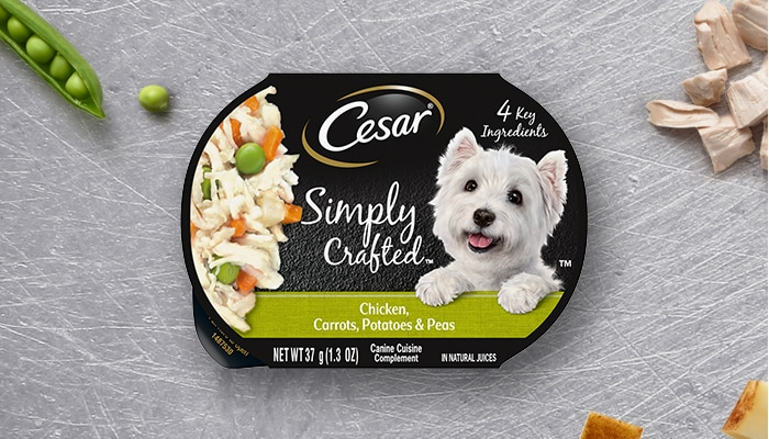 Cesar™ Simply Crafted 4 Chicken, Carrots, Potatoes & Peas