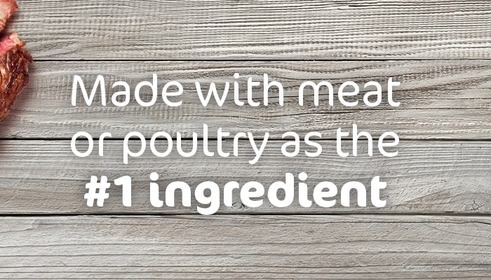 made with meat or poultry as the #1 ingredient